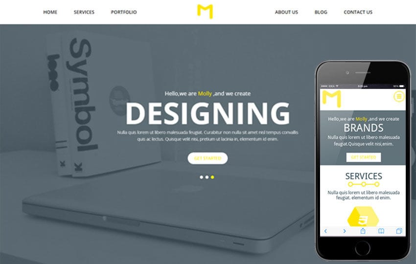 Molly a Singlepage Multipurpose Flat Bootstrap Responsive web template Mobile website template Free