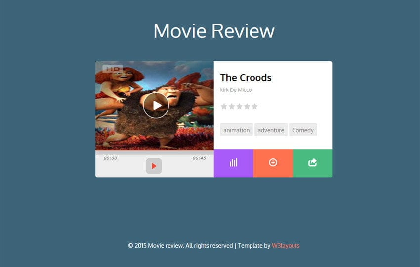 Movie Review Responsive Widget Template - w3layouts.com
