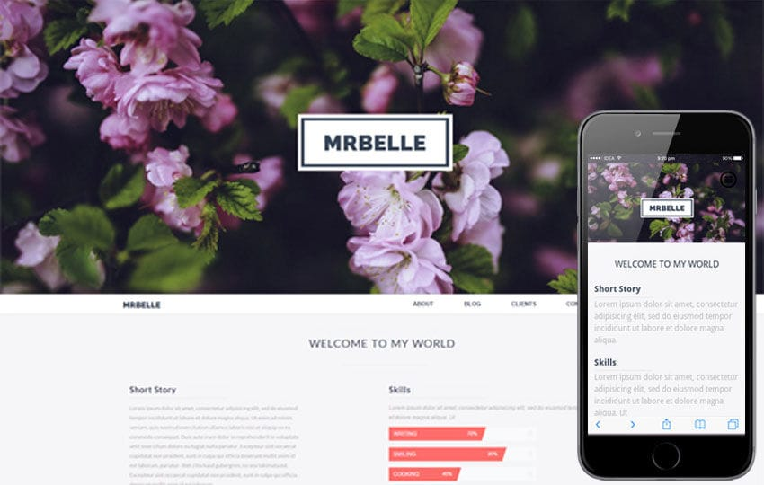 Mr Belle a Singlepage Multipurpose Flat Bootstrap Responsive web template