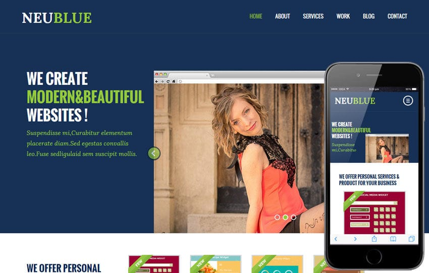 Neu Blue a Corporate Multipurpose Flat Bootstrap Responsive web template Mobile website template Free