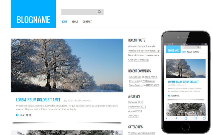 Personal Blog  a Blogging Category Flat Bootstrap Responsive Web Template Mobile website template Free