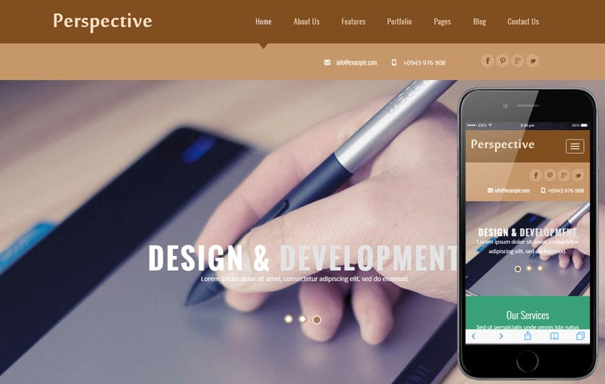 Perspective a Corporate Business Flat Bootstrap Responsive Web Template Mobile website template Free