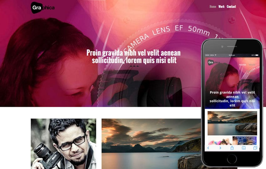 Photographica a Photographers Portfolio Flat Bootstrap Responsive Web Template Mobile website template Free