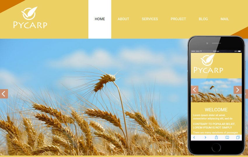 Pycarp a Agriculture Category Flat Bootstrap Responsive web template Mobile website template Free