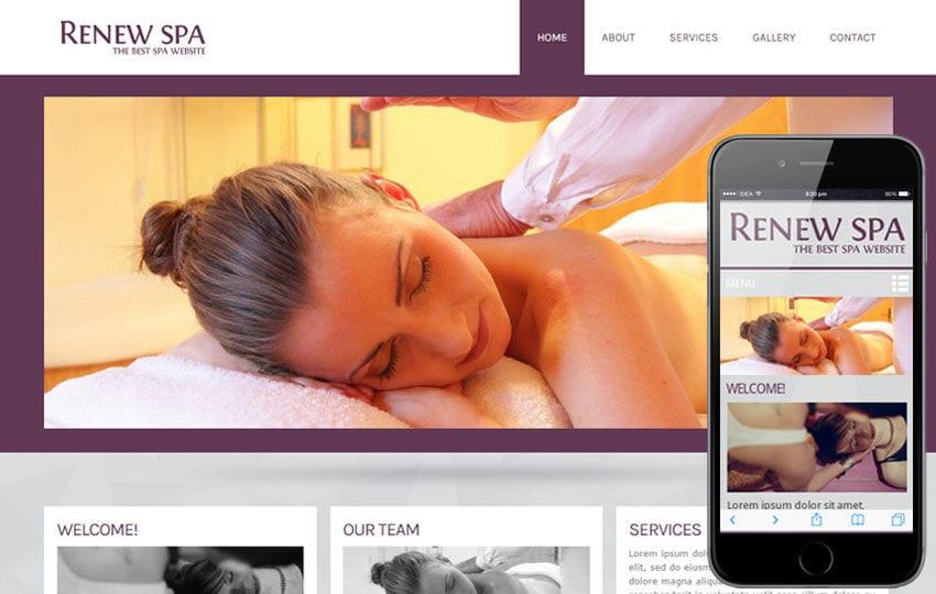 Renew Spa Beauty Parlour- Mobile Website Template Mobile website template Free