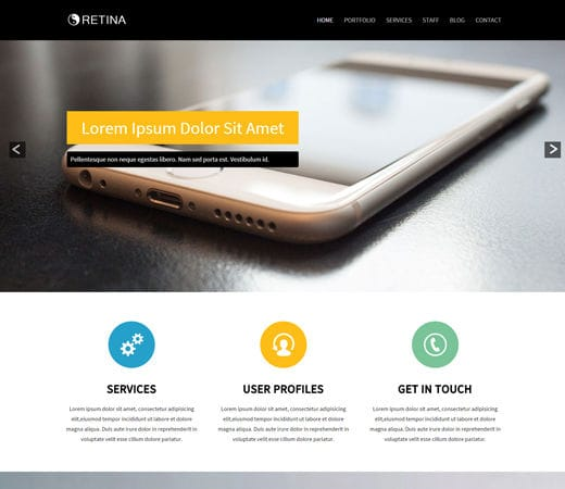 Free website template CSS HTML5 Retina Corporate Flat Responsive web template