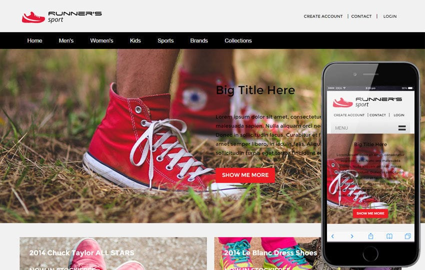 Runner Sport a Flat Ecommerce Bootstrap Responsive Web Template Mobile website template Free