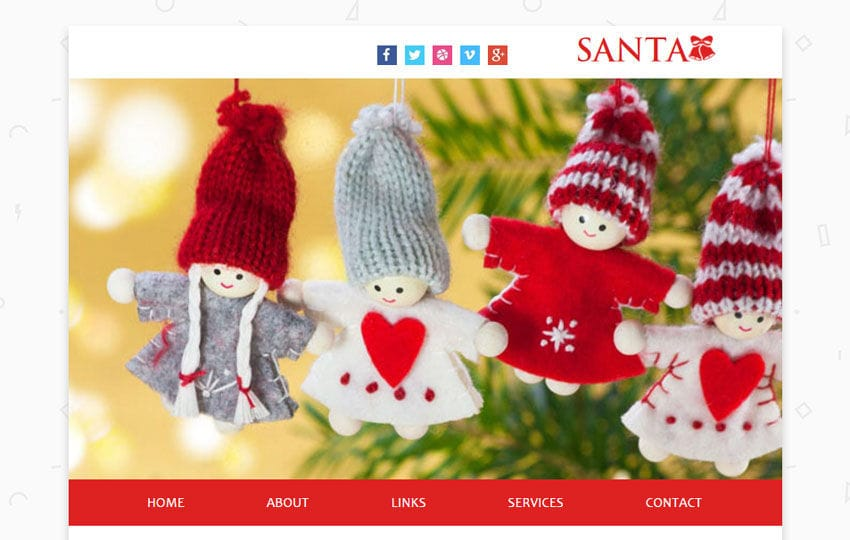 Santa a Newsletter Responsive Web Template Mobile website template Free