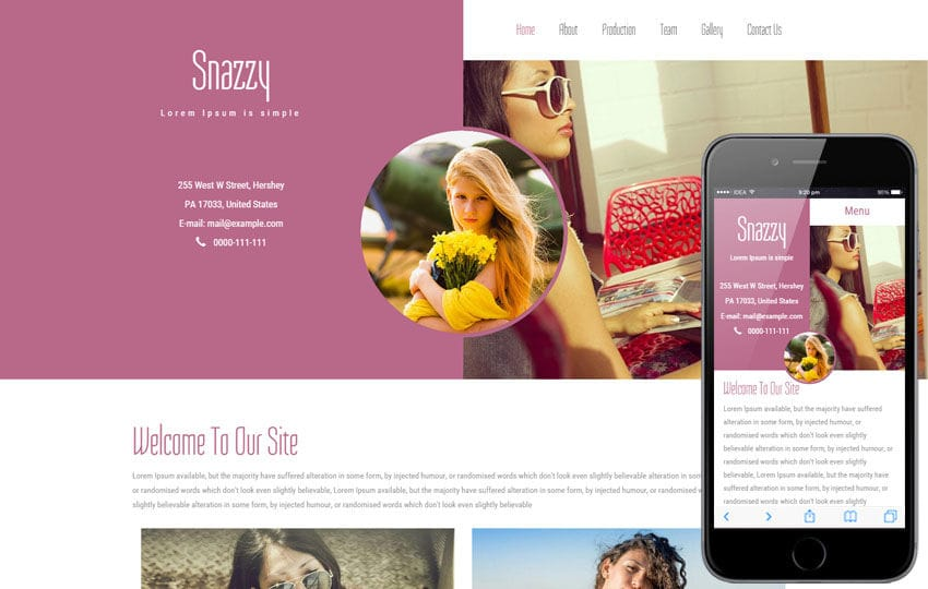 Snazzy a Fashion Category Flat Bootstrap Responsive Web Template