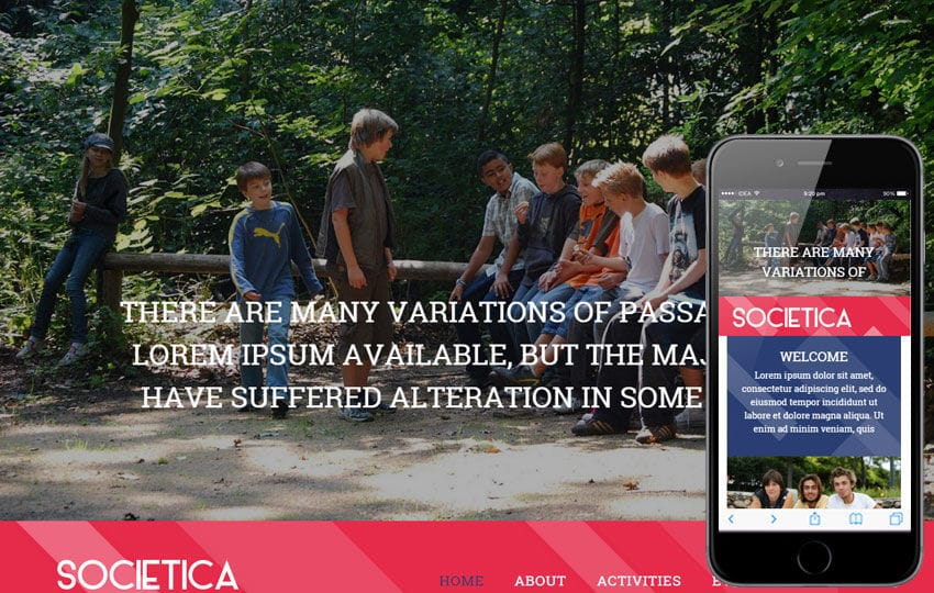 Societica a People and Society Flat Bootstrap Responsive Web Template Mobile website template Free