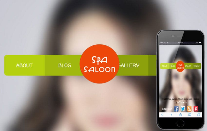 Spa Saloon Beauty Parlour Mobile Website Template Mobile website template Free