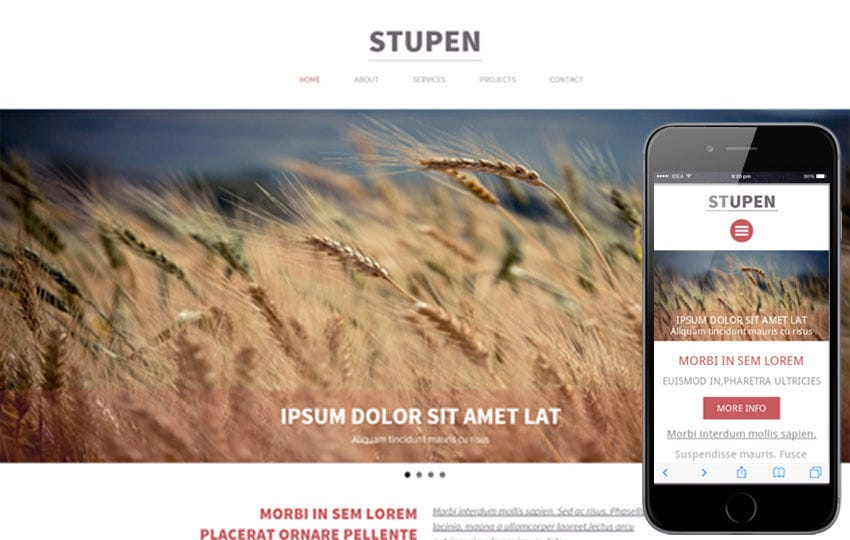 Stupen a Single Page Multipurpose Flat Bootstrap Responsive web template Mobile website template Free