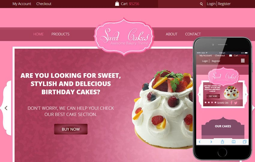 Sweet Cakes a Food Category Flat Bootstrap Responsive web ...