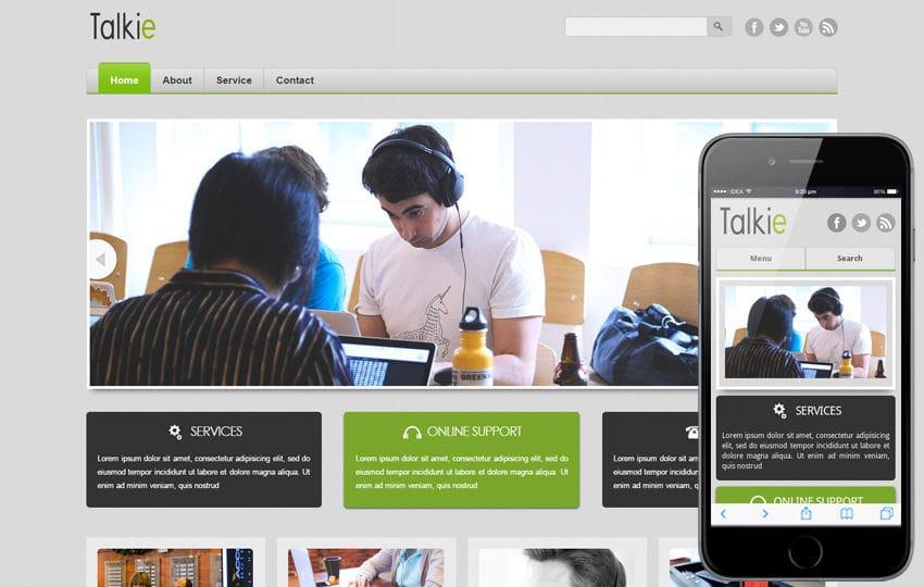 Talkie Corporate Business Mobile website Template Mobile website template Free