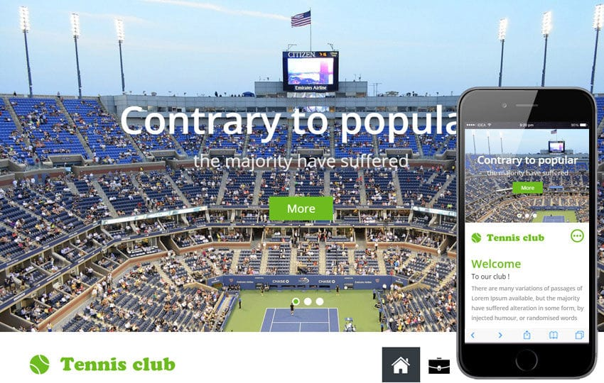 Tennis a Sports Category Flat Bootstrap Responsive Web Template Mobile website template Free