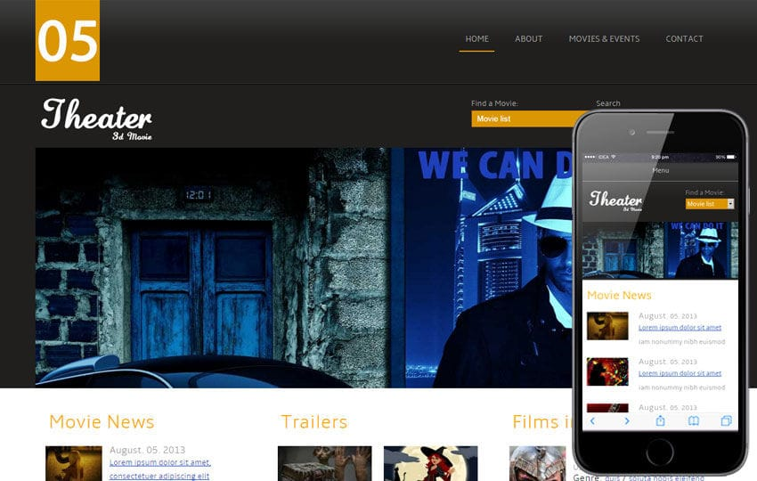 Website template film.
