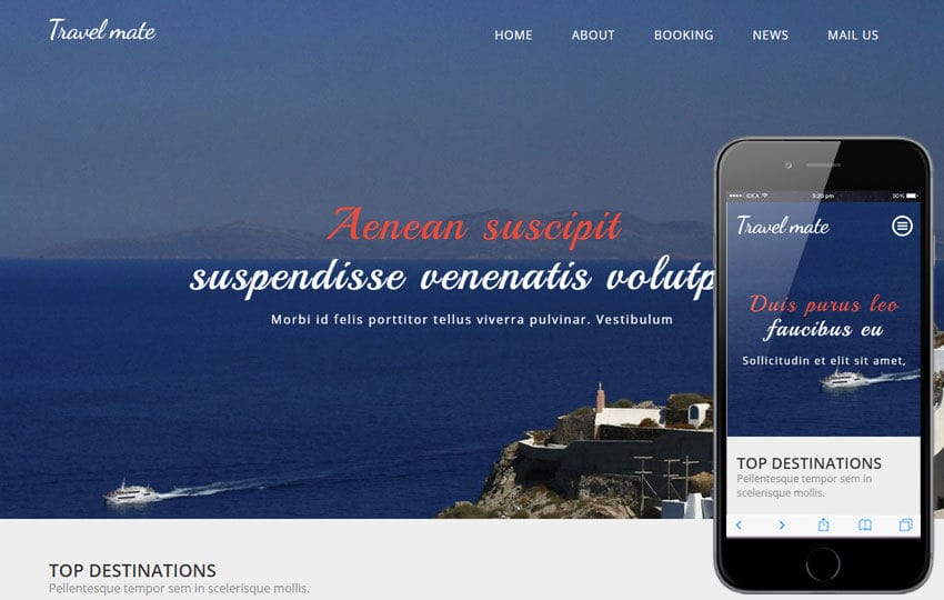 Travel Mate a Travel Category Flat Bootstrap Responsive web template Mobile website template Free