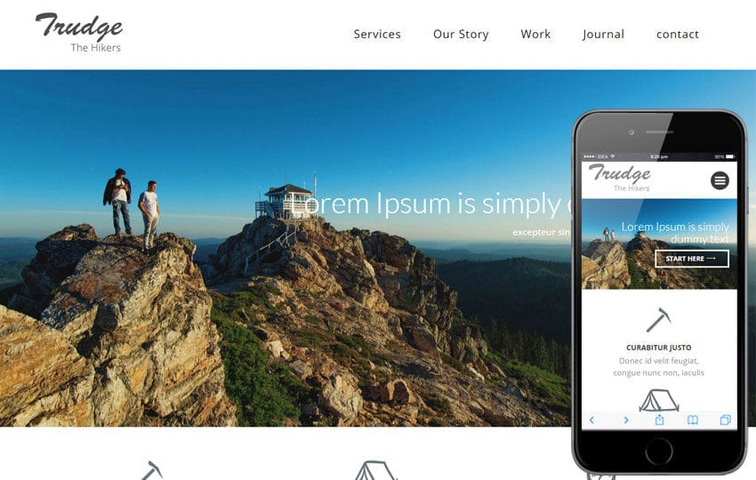 Trudge a Travel Category Flat Bootstrap Responsive Web Template Mobile website template Free