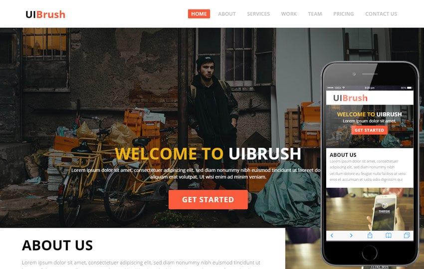 UI Brush a Corporate Multipurpose Flat Bootstrap Responsive web template Mobile website template Free