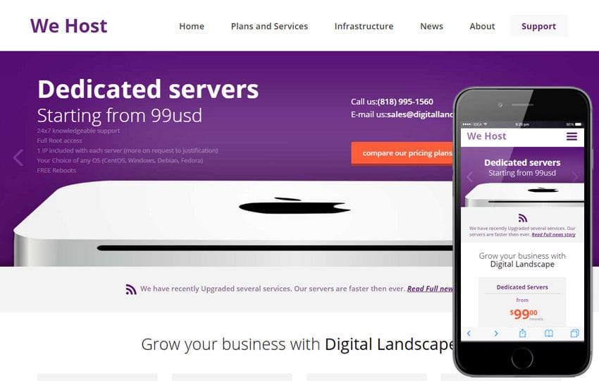 We Host a Web Hosting Flat Bootstrap Responsive Web Template Mobile website template Free