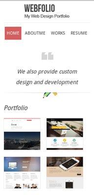Mobile website Template Webfolio – A Flat Responsive website template