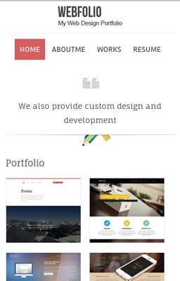 Free Iphone Smartphone web template Webfolio – A Flat Responsive website template