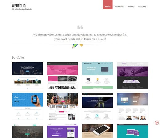 Free website template CSS HTML5 Webfolio – A Flat Responsive website template