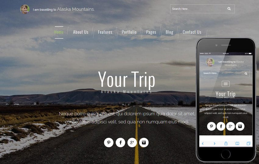 your trip a travel guide flat bootstrap responsive web template mobile website template free