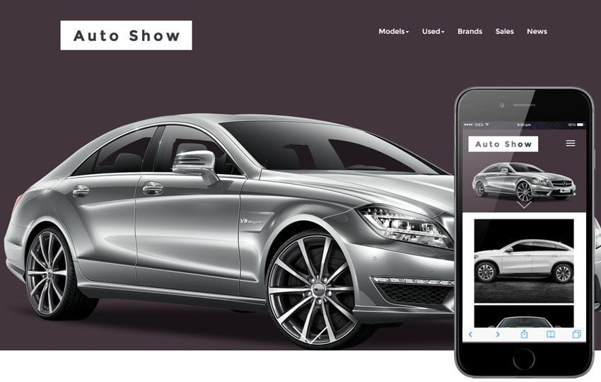 Auto Show a Automobile Category Responsive Web Template Mobile website template Free