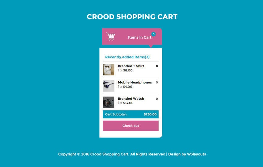 Crood Shopping Cart Responsive Widget Template Wlayoutscom - Responsive shopping cart template