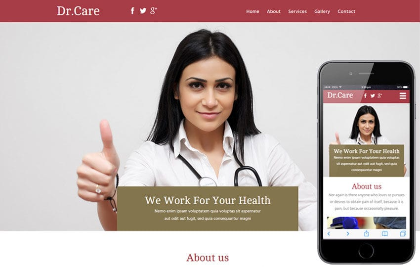 Dr Care a Medical Category Flat Bootstrap Responsive Web Template Mobile website template Free