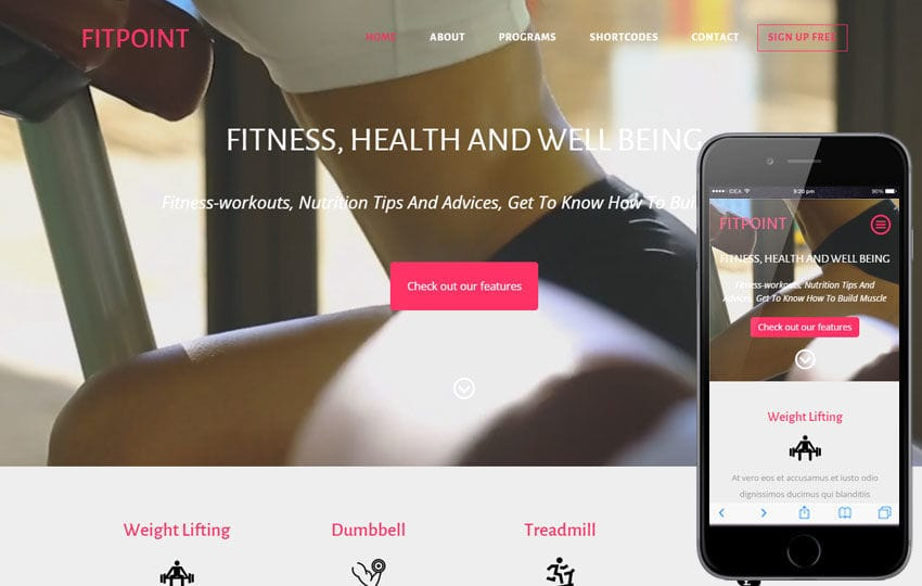 Fit Point a Sports Category Flat Bootstrap Responsive Web Template – Point of Contact Template