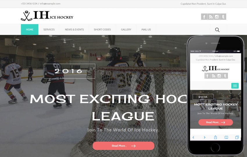 Ice Hockey a Sports Category Flat Bootstrap Responsive Web Template Mobile website template Free