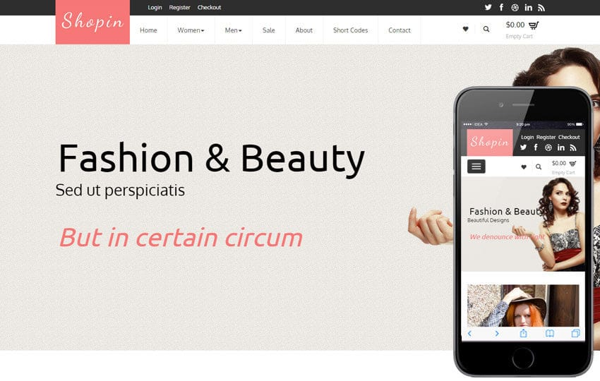 Shopin a Flat Ecommerce Bootstrap Responsive Web Template Mobile website template Free
