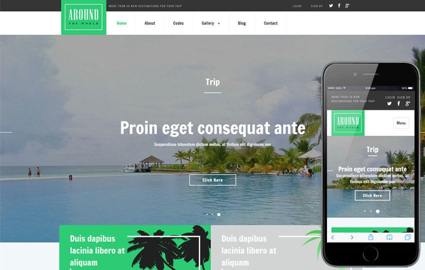 Around a Travel Category Responsive Web Template - w3layouts.com