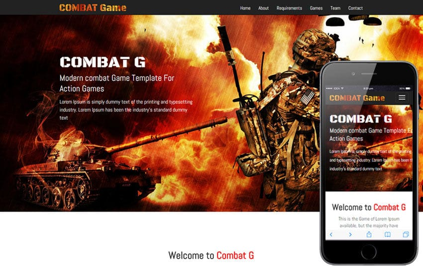 Games Wlayoutscom - Gaming website template