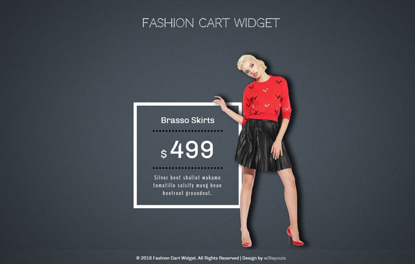 Fashion Cart Responsive Widget Template Mobile website template Free