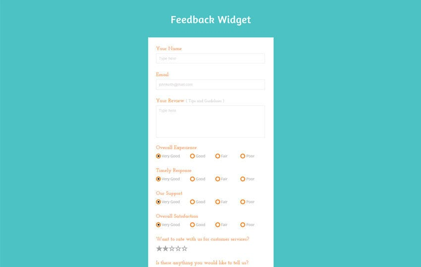 Feedback Form Bootstrap Html Template W3layouts
