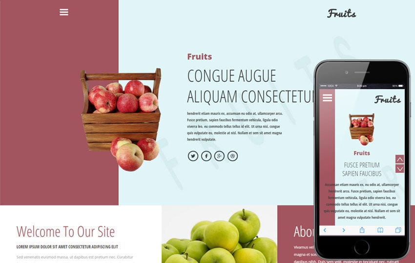 Fruits a Agriculture Category Flat Bootstrap Responsive Web Template Mobile website template Free