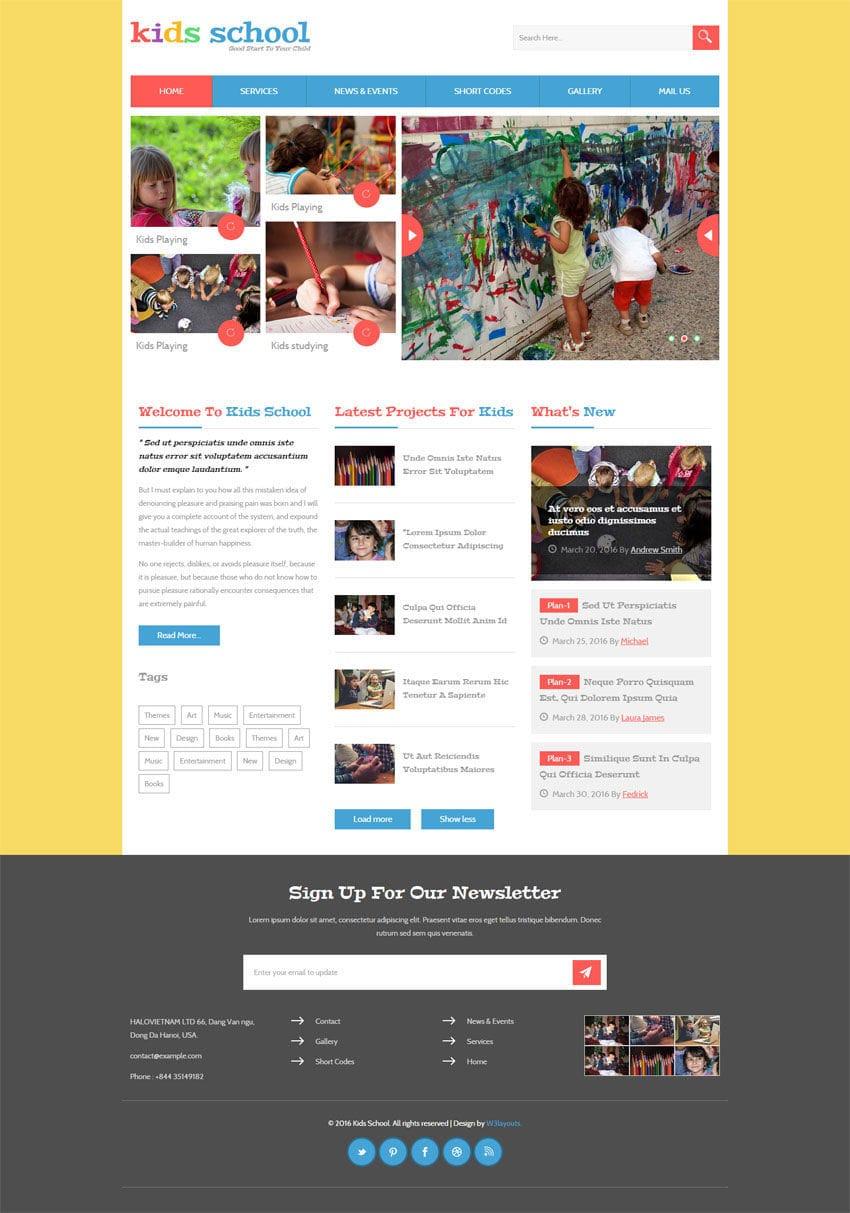 kids school a education flat bootstrap responsive web template. Black Bedroom Furniture Sets. Home Design Ideas