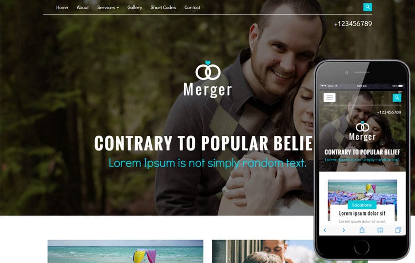 Merger A Wedding Category Flat Bootstrap Responsive Web Template Mobile website template Free
