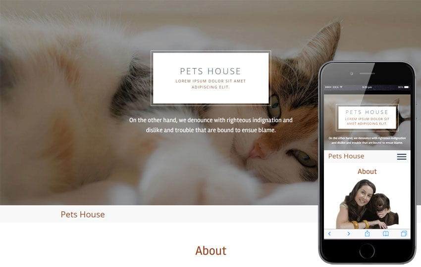 Pets House a Animal Category Flat Bootstrap Responsive  Web Template Mobile website template Free