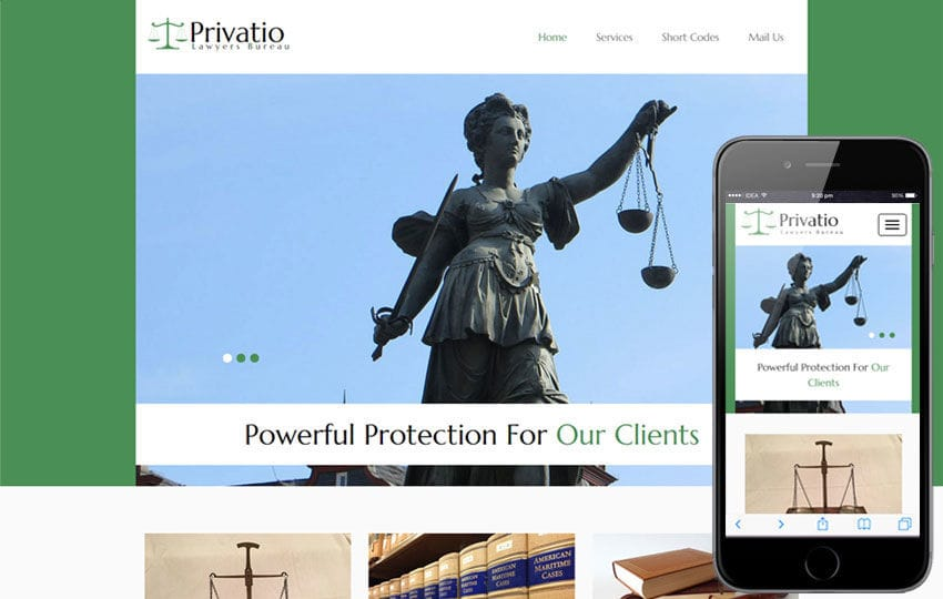 Privatio a Social Flat Bootstrap Responsive Web Template Mobile website template Free