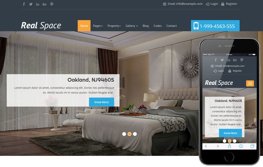 Real Space a Real Estate Category Flat Bootstrap Responsive Web Template Mobile website template Free