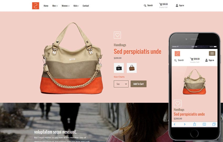 ShopList a Ecommerce Category Responsive Web Template Mobile website template Free