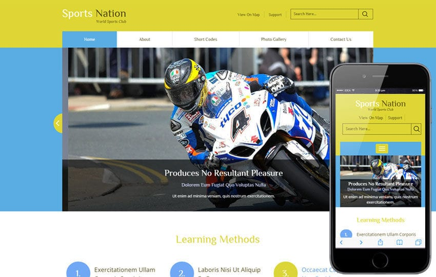 Sports Nation a Sports Category Flat Bootstrap Responsive Web Template Mobile website template Free
