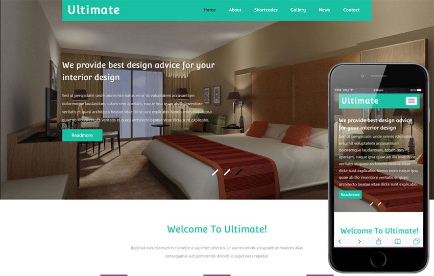 Ultimate a Interior Architect Flat Bootstrap Responsive Web Template Mobile website template Free