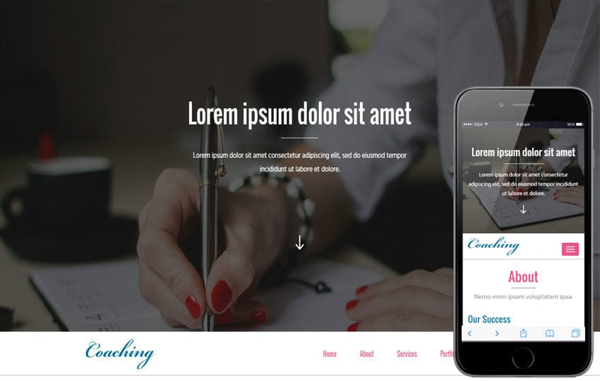 Coaching a Education Category Flat Bootstrap Responsive Web Template Mobile website template Free