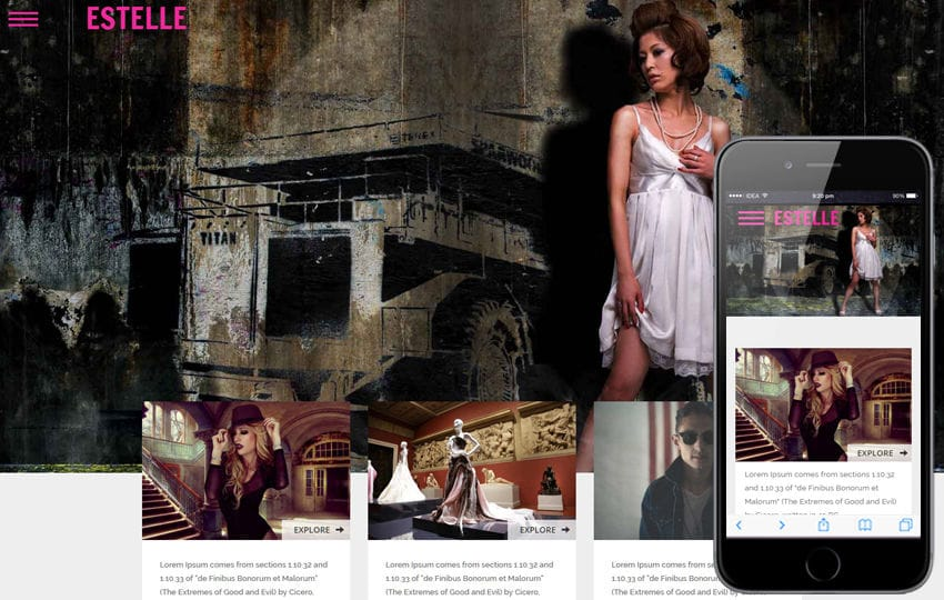 Estelle a Fashion Category Flat Bootstrap Responsive Web Template