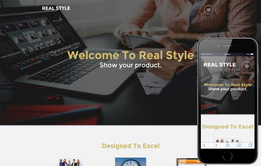 Real Style Corporate Category Flat bootstrap Responsive Web Template Mobile website template Free